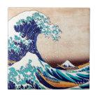 Great Wave Off Kanagawa Vintage Japanese Print Art Tile