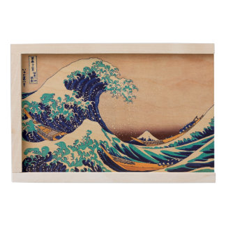 Great Wave Off Kanagawa Vintage Japanese Print Art Wooden Keepsake Box