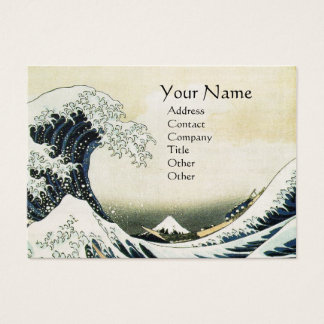 GREAT WAVE Pearl Paper Business Card