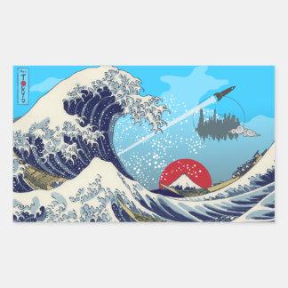 Great Wave Rectangular Sticker