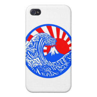 Great Wave Rising Sun Case iPhone 4/4S Cover