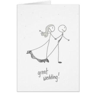 Great Wedding Greeting Card
