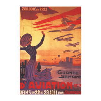 Great Week of Aviation - Woman Waving Poster Stretched Canvas Prints
