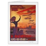 Great Week of Aviation - Woman Waving Poster Card