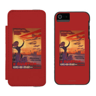 Great Week of Aviation - Woman Waving Poster iPhone SE/5/5s Wallet Case