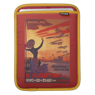 Great Week of Aviation - Woman Waving Poster Sleeve For iPads