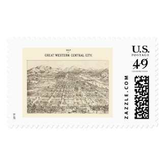 Great Western Central, CO Panoramic Map - 1887 Postage Stamps