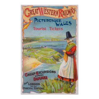 Great Western Railray Promo Tours to Wales Poster