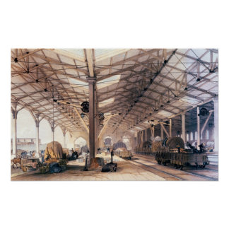 Great Western Railway: Freight shed at Bristol Poster
