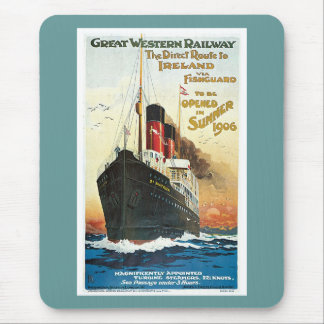 Great Western Railway Ireland Ship Mouse Pad