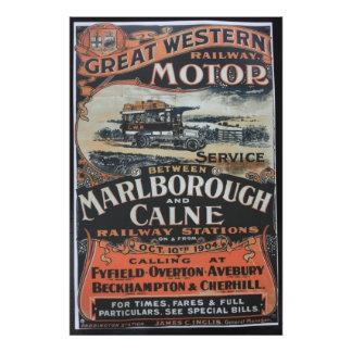 Great Western Railway motor service vintage advert Photo