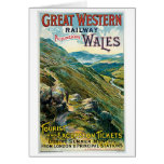 Great Western Railway Picturesque Wales UK Poster Greeting Cards