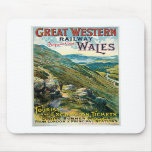 Great Western Railway Picturesque Wales UK Poster Mousepad