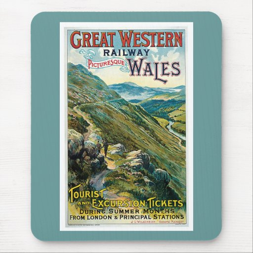 Great Western Railway Picturesque Wales UK Poster Mouse Pad