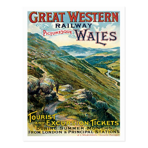 Great Western Railway Picturesque Wales UK Poster Postcards