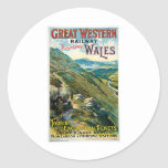 Great Western Railway Picturesque Wales UK Poster Classic Round Sticker