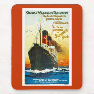 Great Western Railway, Route to Ireland Vintage Mouse Pad
