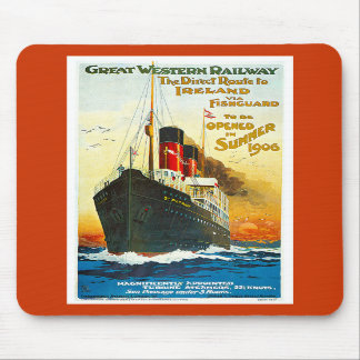 Great Western Railway, Route to Ireland Vintage Mouse Pads
