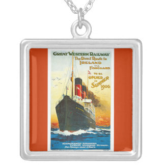 Great Western Railway, Route to Ireland Vintage Custom Necklace