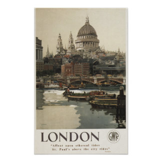 Great Western Railway St. Paul's Travel Poster