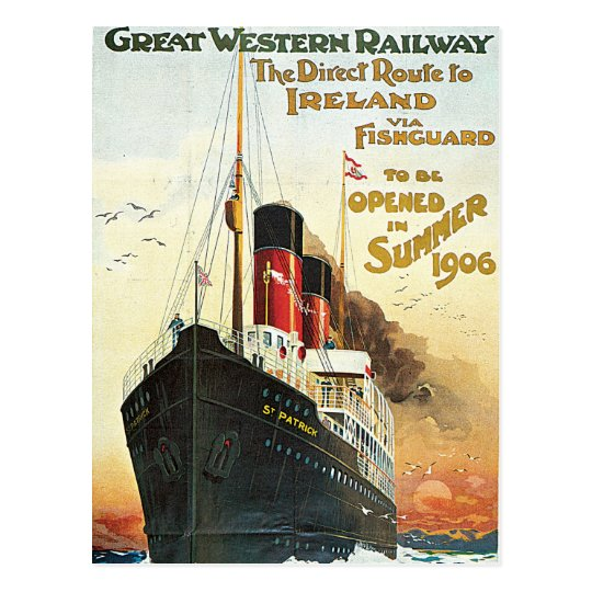 Great Western Railway - To Ireland Postcard