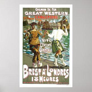 Great Western Railway Vintage Travel Art Posters