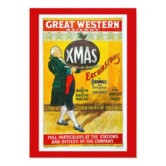 Great Western Railway Xmas Excursion Vintage Card