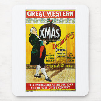 Great Western Railway Xmas Excursions Mouse Pad