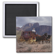 Great Western Trail Stagecoach Magnet