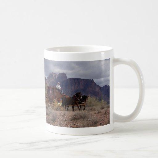 Great Western Trail Stagecoach Classic White Coffee Mug