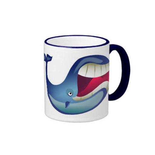 Great Whale Ringer Coffee Mug