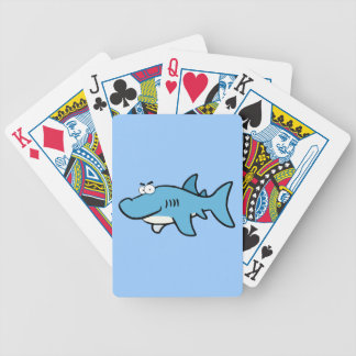 GREAT WHITE BLUE SHARK CARTOON SNEAKY FUNNY SURF S BICYCLE PLAYING CARDS