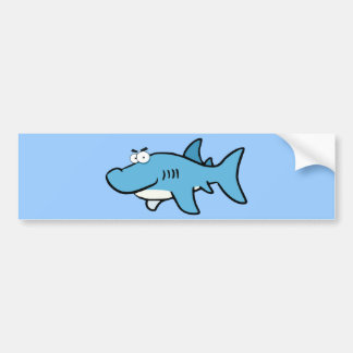 GREAT WHITE BLUE SHARK CARTOON SNEAKY FUNNY SURF S BUMPER STICKER