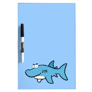 GREAT WHITE BLUE SHARK CARTOON SNEAKY FUNNY SURF S DRY ERASE BOARD