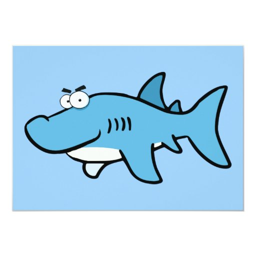 GREAT WHITE BLUE SHARK CARTOON SNEAKY FUNNY SURF S ANNOUNCEMENTS
