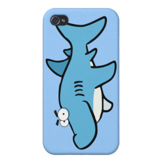 GREAT WHITE BLUE SHARK CARTOON SNEAKY FUNNY SURF S iPhone 4/4S CASES