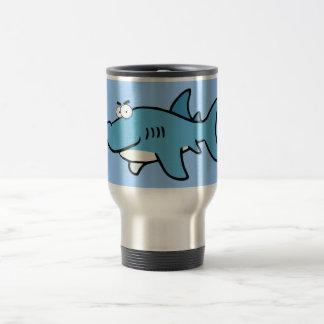 GREAT WHITE BLUE SHARK CARTOON SNEAKY FUNNY SURF S MUGS