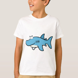 GREAT WHITE BLUE SHARK CARTOON SNEAKY FUNNY SURF S T-Shirt