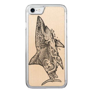 GREAT WHITE CARVED iPhone 7 CASE