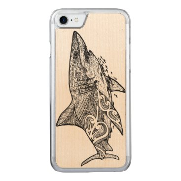 pacificstain GREAT WHITE CARVED iPhone 7 CASE