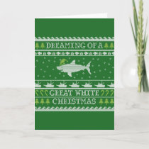 Great White Christmas Funny Ugly Sweater Card