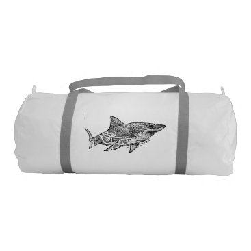 Beach Themed GREAT WHITE DUFFLE BAG