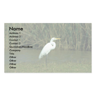 Great White Egret Double-Sided Standard Business Cards (Pack Of 100)