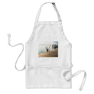 Great White Egret Heron Gracefully Snacks Aprons