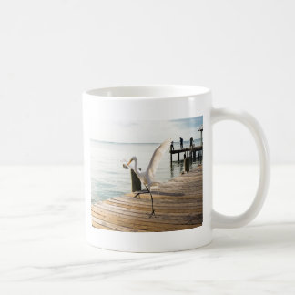 Great White Egret Heron Gracefully Snacks Coffee Mug