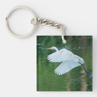 Great White Egret Acrylic Keychain