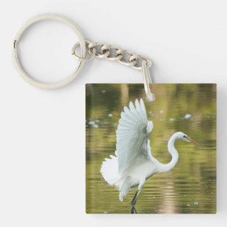 Great White Egret Key Chains