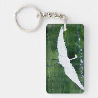 Great White Egret Keychain