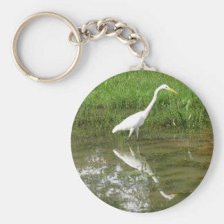 Great White Egret Key Chain