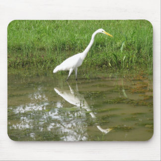 Great White Egret Mouse Pad